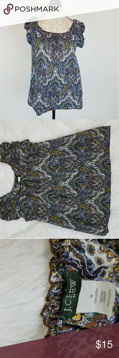 J.CREW Ladies Medium Short Sleeve Blouse J.CREW Ladies Medium Short Sleeve Blouse . Paisley Print. J. Crew Tops Blouses