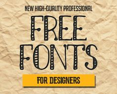 15 New Superb Free Fonts for Designers #freefonts #scriptfonts…