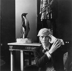 Andy Warhol. Photo by Hans Namuth, 1981.