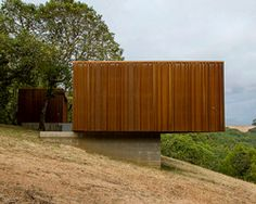 weehouse sonoma is a pre-fab corten home overlooking the californian valley