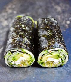 Cucumber and Avocado Quick Nori Roll Recipe - Chocolate & Zucchini