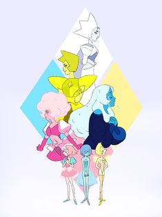 The diamonds and their pearls! (Except for white diamonds )