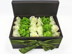 flowers in a box | Order Flowers in Box - White Roses Green Hydrangea Box Flower - L34951 ...                                                                                                                                                                                 More
