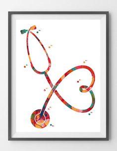 Items similar to Stethoscope Watercolor Print Medical Tools Poster Anatomy Art Heart Shaped Stethoscope Love Medicine Print Doctors Nurses Medical Art Gift on Etsy – medicine-art – emedical Medical Drawings, Medical Art, Medical Posters, Tool Poster, Medical Wallpaper, Cabinet Medical, Nurse Art, Human Figure Drawing, Anatomy Art