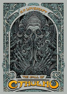 The Geeky Nerfherder: 'The Call of Cthulhu' by Florian Bertmer. Call Of Cthulhu, Pop Culture Art, Weird Art, Horror Art, Comic Art, Giclee Print, Screen Printing, Fantasy Art, Concept Art