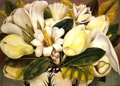 """Frida Kahlo. Magnolias """"I paint flowers so they will not die."""" —Frida Kahlo"""
