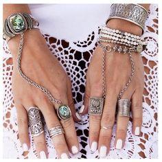"""@gypsylovinlight wearing the @haatichai Malaya Hand piece."""