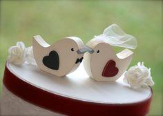 Love Birds Wedding Cake Topper Rustic Wedding by RusticWeddingDay Love Birds Wedding, Wedding Table Flowers, Rustic Wedding Cake Toppers, Wedding Cakes, Red Velvet Wedding Cake, Velvet Cake, Disney Wedding Rings, Bird Cake Toppers, Red Cake