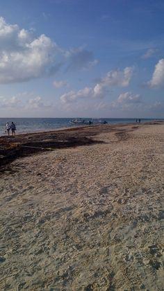 walk along beach of Puerto Morelos morning