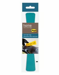 Post-it® Reminder Tags allow you to put your reminders where they'll be seen. The 1 in x 6.5 in size with adhesive on one end is great for looping a note around bag handles, backpacks, steering wheels and more. The tags stick securely and remove cleanly. Modern Teal color tags bring color and style to your on the go reminders. 1 pad/pack, 50 sheets/pad.