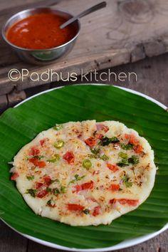 Padhuskitchen: Rava Uttapam-Instant Sooji Uthappam Recipe-Semolin...