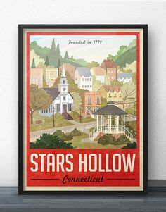 Sternen hohlen Poster  Vintage Travel Poster  von WindowShopGal
