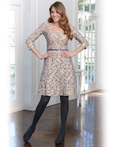 Belted Boucle Dress