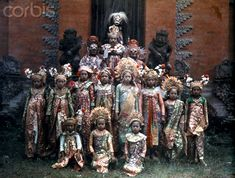 1928, Bali, Indonesia --- The Balinese performing their ceremonial Lion Dance --- Image by © Franklin Price Knott/National Geographic Soci...