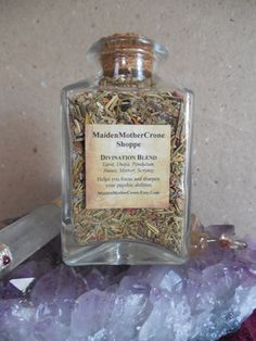 Divination Blend: Meditation-Psychic Enhancer-Focus-Clear Thinking-Seance-Zodiac-Tarot Reading-Runes-Scrying-Ouija-Pendulum-Protection By MaidenMotherCrone.etsy.com