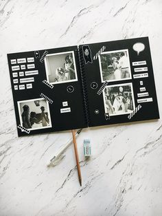 Wedding photo album as gift, create personalized photo albums, gifts for girlfriend, scrapbook album - Photo album scrapbooking - Photo Album Scrapbooking, Scrapbook Albums, Diy Scrapbook, Scrapbooking Layouts, Scrapbook Ideas For Birthday, Picture Scrapbook, Scrapbook Photos, Wedding Scrapbook, Digital Scrapbooking