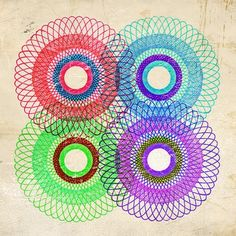 6x6 DONUTS Abstract Art Print No.2 by MonsterGallery on Etsy, $12.00