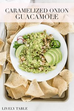 Take guacamole to a new level with this savory caramelized onion guacamole! It's the perfect appetizer to go with any Mexican dish! #vegan #glutenfree #nutfree #dairyfree #guacamole #avocado #appetizer #cincodemayo #healthyfat #mexicanfood #snacks #caramelizedonions Best Appetizer Recipes, Healthy Appetizers, Appetizers For Party, Mexican Food Recipes, Whole Food Recipes, Healthy Snacks, Snack Recipes, Cooking Recipes, Ethnic Recipes