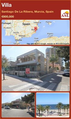 Villa for Sale in Santiago De La Ribera, Murcia, Spain - A Spanish Life Valencia, Portugal, Murcia Spain, Concrete Structure, Reinforced Concrete, Spanish, Villa, Life, Saint James