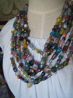 India Beaded Necklaces by KakeriKreations on Etsy, $12.00
