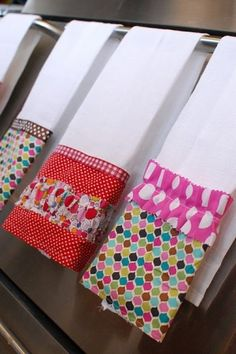 DIY dish towels by suzette.....here's idea for you Kellie :)