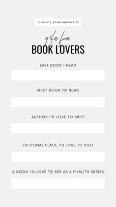 Book Lovers Instagram Story Templates - Lindsay Elizabeth Best Instagram Stories, Book Instagram, Book Review Template, Bingo Template, Readers Notebook, Instagram Questions, Motivational Blogs, Love To Meet, Instagram Story Template