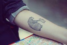 Mama bear and baby bear tattoo