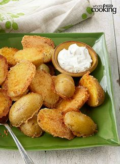 Crispy Parmesan Baked Potatoes #recipe