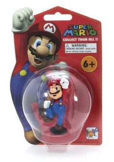 """Mario - Super Mario ~2.5"""" Mini Figure by PopCo. $3.99. Bring home Mario and company with our first wave of vinyl figurines! COLLECT THEM ALL! Ninendo's most beloved characters appeal to all ages!. The series is made up of 5 mini figures (EACH SOLD SEPARATELY): Bullet Bill (~2""""), Luigi (~2.3""""), Mario (~2.5""""), Paragoomba & Bob-omb (~1.6"""" & ~1.25""""), and Yoshi (~2.25""""). *** NOTE: Approximate measurment only. The actual size of the figure may be slightly smaller or big..."""