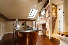 banheiros com banheira rústico - Google Search