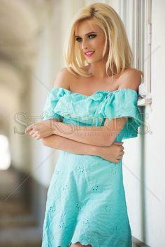 PrettyGirl Landed Turquoise Dress
