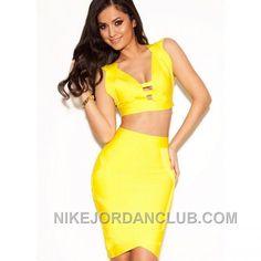 http://www.nikejordanclub.com/herve-leger-ione-two-piece-cutout-yellow-bandage-dress-sdr239-free-shipping.html HERVE LEGER IONE TWO PIECE CUTOUT YELLOW BANDAGE DRESS SDR239 FREE SHIPPING Only $117.00 , Free Shipping!