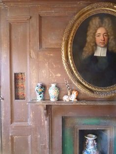 Behind the panelling was once a night close or dry closet (not a water closet); a small section of panelling was removed in the c18th for ventilation.