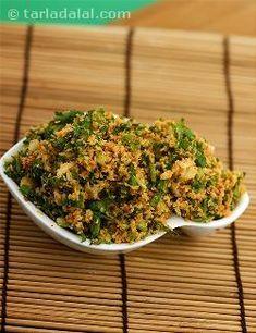 Coconut - Coriander Masala is a basic gujarati masala used in vegetable recipes like oondhiya, walor muthia nu shaak, turiya paatra etc. Gujarati Cuisine, Gujarati Recipes, Indian Food Recipes, Gujarati Food, Vegetable Recipes, Vegetarian Recipes, Cooking Recipes, Healthy Recipes, Vegetarian Lunch