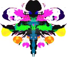 rorschach inkblot   Hyper-color Rorschach Test by jpdesign69