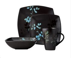 Threshold™ 16 Piece Eventide Bloom Dinnerware Set - Black from Target. Shop more products from Target on Wanelo.