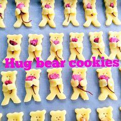抱っこくまクッキー! リクエストでまたまた登場〜 桜の塩漬け使い切りたかった 愛おしい子達〜 - 38件のもぐもぐ - Hug bear cookies by サクラ