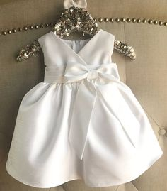 Baby Girl Christening Dress Baby White Baptism Dress ivory - Everything For Babies White Baptism Dress, Girls Baptism Dress, Baby Girl Christening, Toddler Baptism Dresses, Christening Gowns, Cute Baby Dresses, Little Girl Dresses, Flower Girl Dresses, Dress Girl