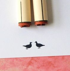 Love Birds Rubber Stamp Set by norajane on Etsy (own!)
