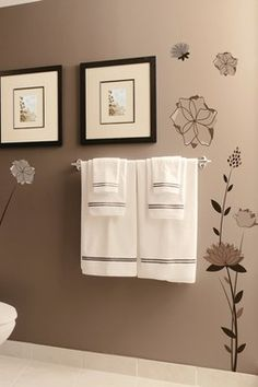 Graphic Flowers Removable Wall Decal Set