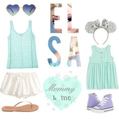 Mommy and Me Elsa Disneyland outfits