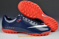 Nike Mercurial CR7 Vapor IX SE Limited Edition TF Football Boots Sapphire Blue Red White