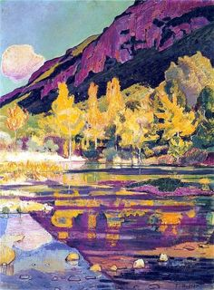bofransson:    Ferdinand Hodler-At the Foot of the Petit Saleve-1893
