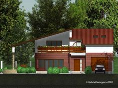 case-cu-etaj-00-003 Dena, Cabin Homes, Case, Garage Doors, House Styles, Outdoor Decor, Home Decor, Interior Design, Home Interior Design