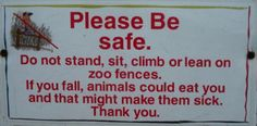 Funny Warning Signs For People   Funny Warnings. Stupid and Silly Warning Labels