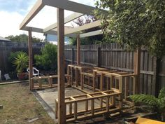 Outdoor BBQ entertaining area, Built in BBQ. Melbourne summer nights are the perfect time for entertaining and why not do it with style. Landscape Services, Landscape Plans, Landscape Design, Landscape Photos, Diy Bbq Area, Barbecue Area, Bbq Shed, Melbourne, Diy Outdoor Kitchen