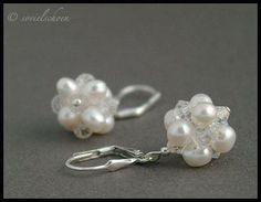 Brautschmuck Echte Perlen Ohrringe mit Kristallen von sovielschoen -  schmuck und schmueckendes  &  Brautschmuck auf DaWanda.com