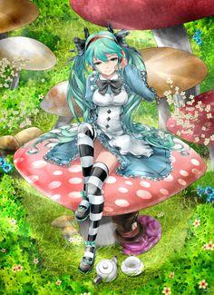 「初音ミク in Wonderland」/「saiki」のイラスト [pixiv]