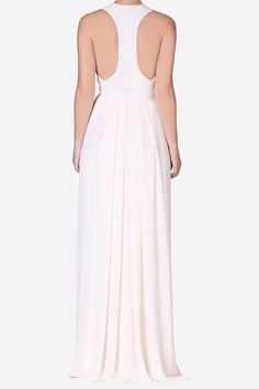 Pearl Georgette Cleopatra Gown
