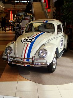 """3: """"Herbie"""" movies: 1963 Model 117 Volkswagen Type 1, """"Herbie"""" - This car should probably be number two or number one on the list. We totally accept arguments for this timeless, lovable car. It's difficult to find anybody in any generation who doesn't know who Herbie is since the car has starred with some of the biggest names in Tinseltown such as Bruce Campbell and Lindsay Lohan. The little ride also helped grow the huge Beetle fandom in the 1960s."""